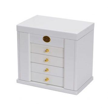 b95b12431 Luxury wooden Jewellery Box white storage case W/ lock large size