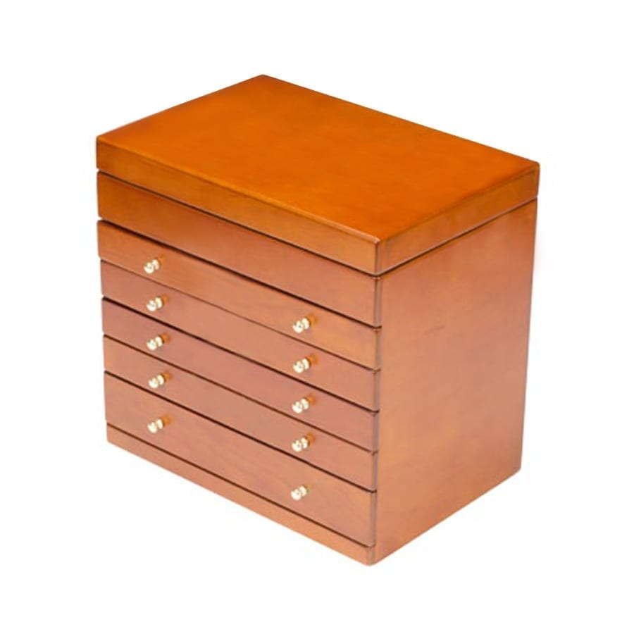 Extra Large Wooden Jewellery Box Black White Brown